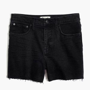 Madewell Black Denim Shorts EUC 26